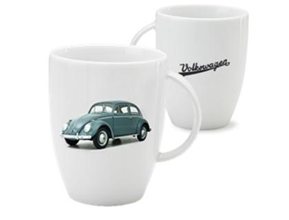 Genuine VW White Beetle Mug