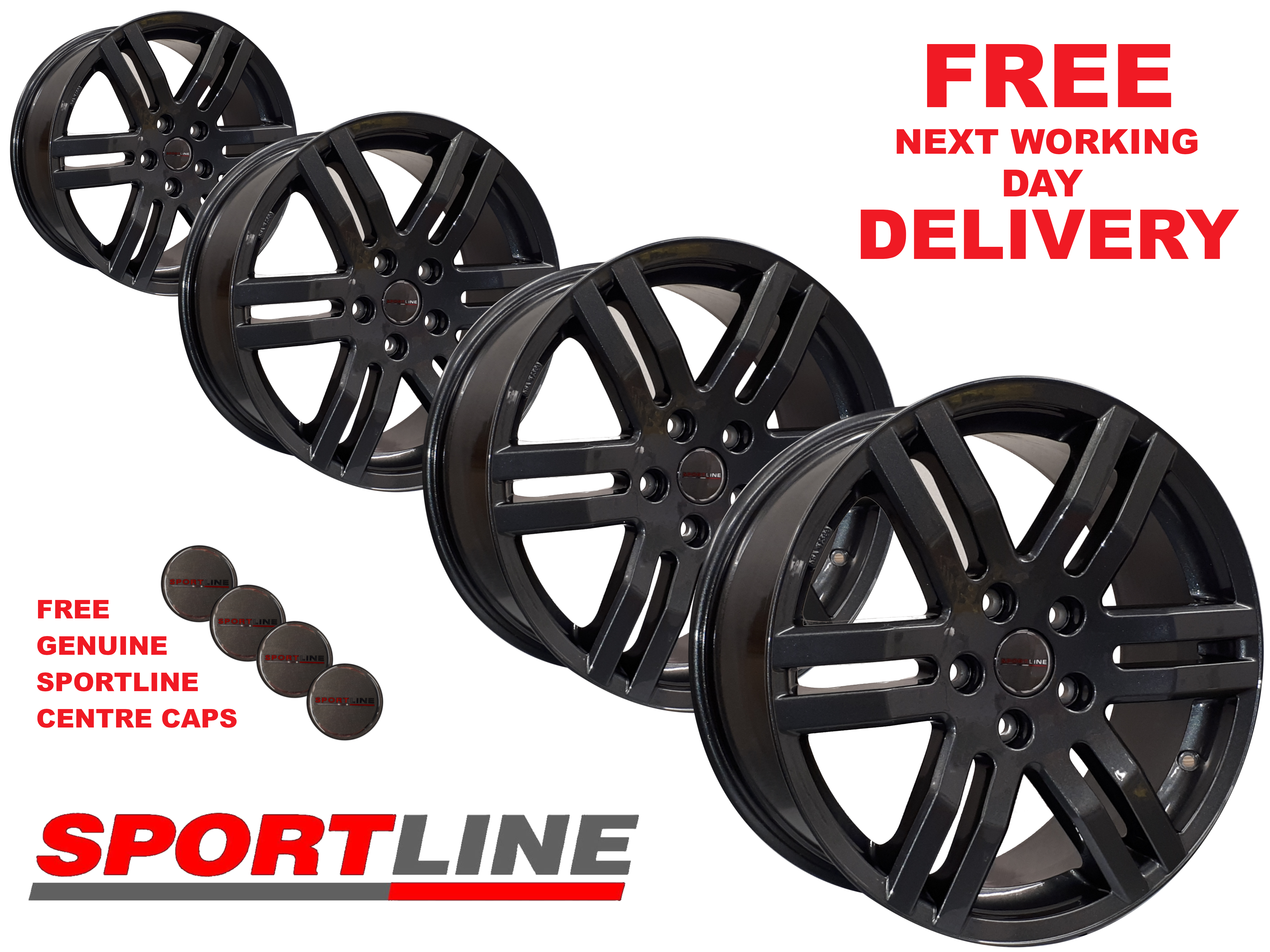 "18"" Genuine Sportline Anthracite Alloy Wheels 5X120 T5"