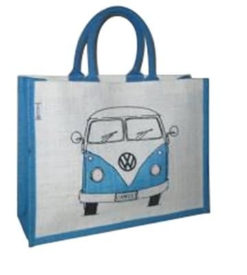 Genuine VW Campervan Shopper Bag - Blue