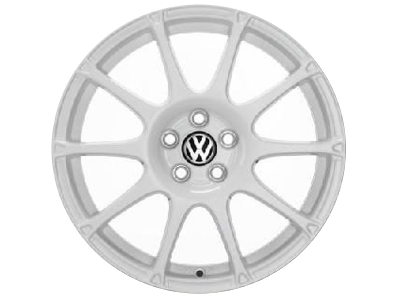 "Genuine VW Polo Alloy Wheels 17"" Motorsport White"