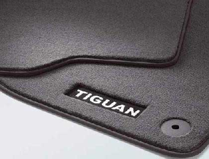 Genuine VW Tiguan Accessory Luxury Carpet Mats Front 2007 Onward