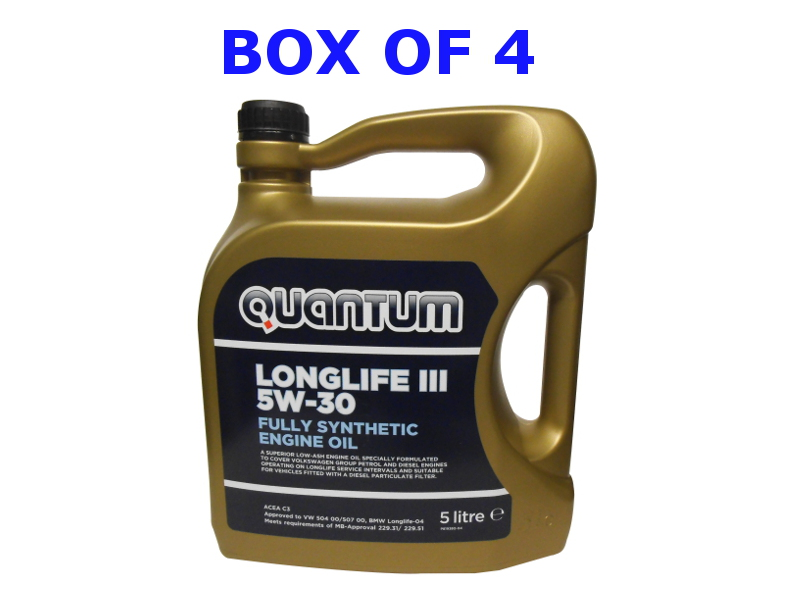 Genuine VW Quantum Longlife 3 Engine Oil 5Ltr Box Of 4