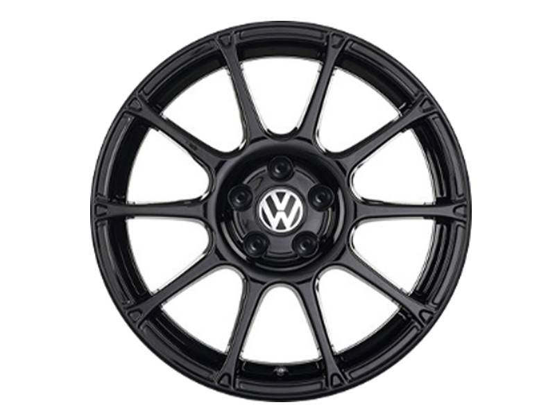 "Genuine VW Polo Alloy Wheel 17"" Motorsport Black (Single Wheel)"