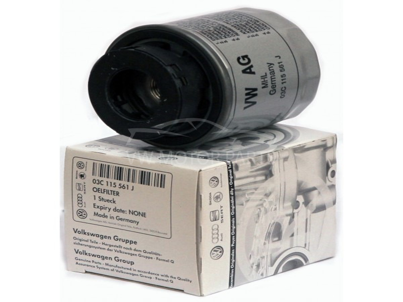 Genuine VW Golf Oil Filter 1.4 1.6 Petrol, Canister Filter