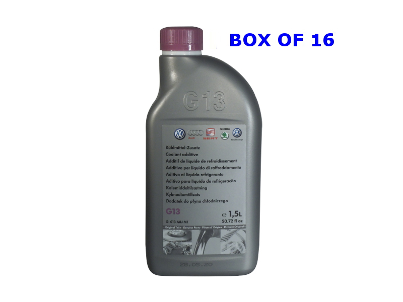 Genuine VW G13 Coolant Concentrate Box Of 16 X 1.5Ltr