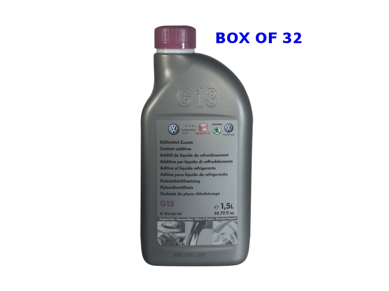 Genuine VW G13 Coolant Concentrate Box Of 32 X 1.5Ltr