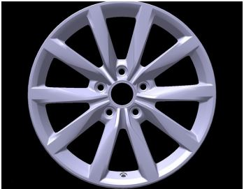 "Genuine VW Golf 17"" Alloy Wheel"